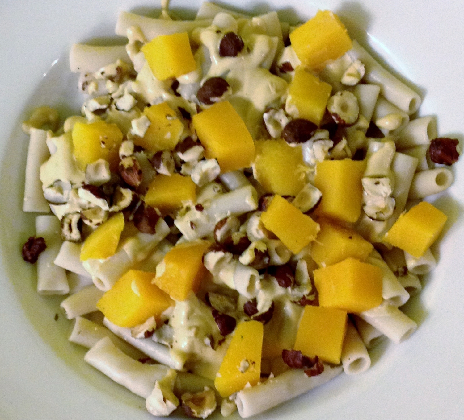 Butternut Squash and Hazelnut Pasta with Smoked Cream Sauce