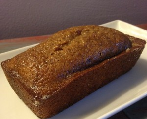 A loaf of gluten-free poppy seed bread from In Johnna's Kitchen