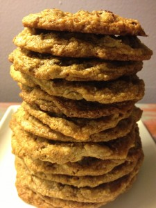 Chocolate Toffee Cranberry Oatmeal Cookies Gluten Free