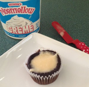 In Johnnas Kitchen s'more cupcake with ricemellow creme