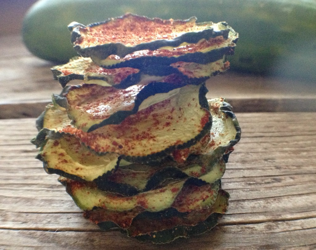 BBQ Cucumber Chips Dehydrated