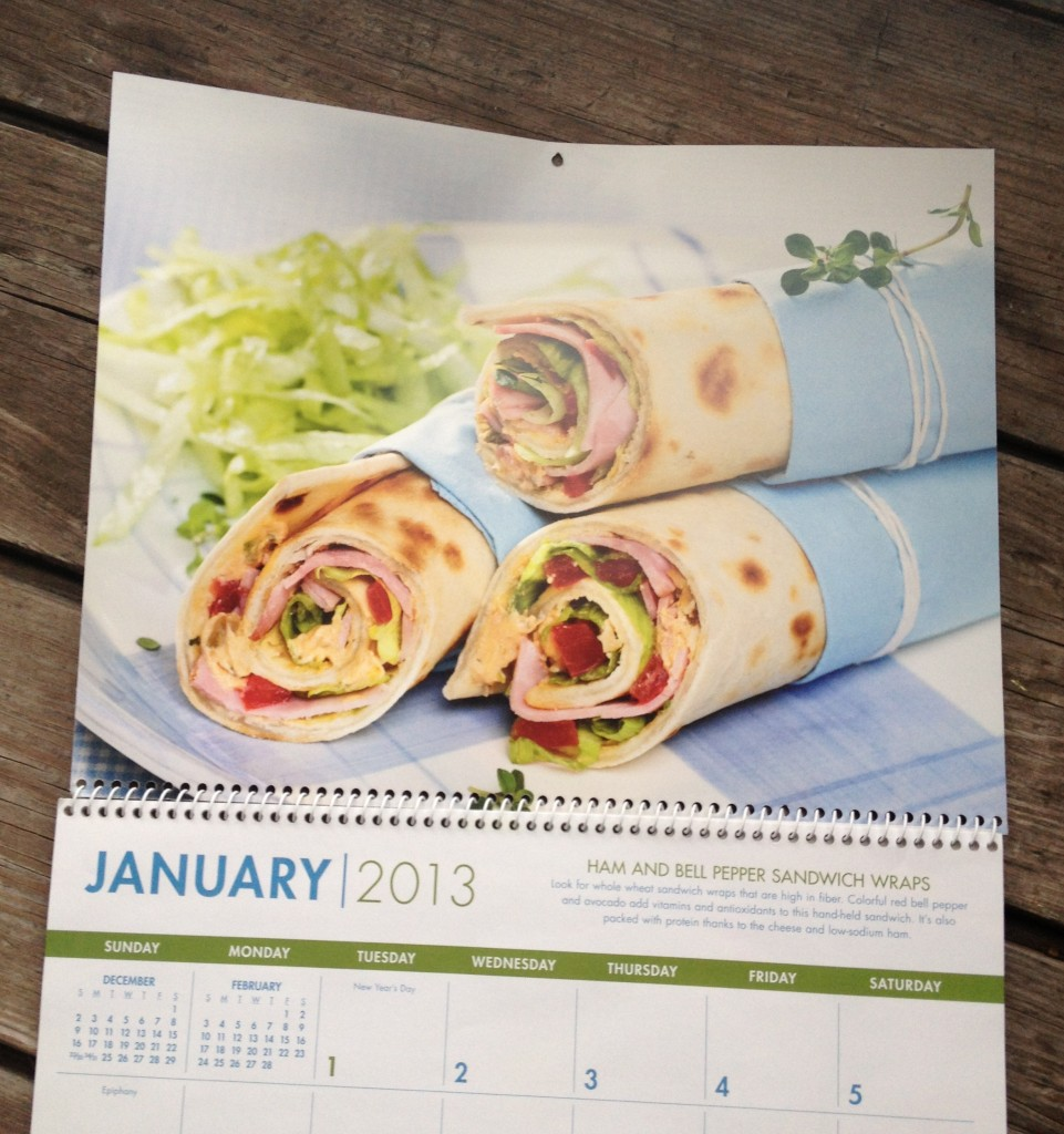 healthy eating calendar january