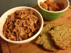 Slow Cooker Pulled Not-Pork Jackfruit BBQ, Carolina Style