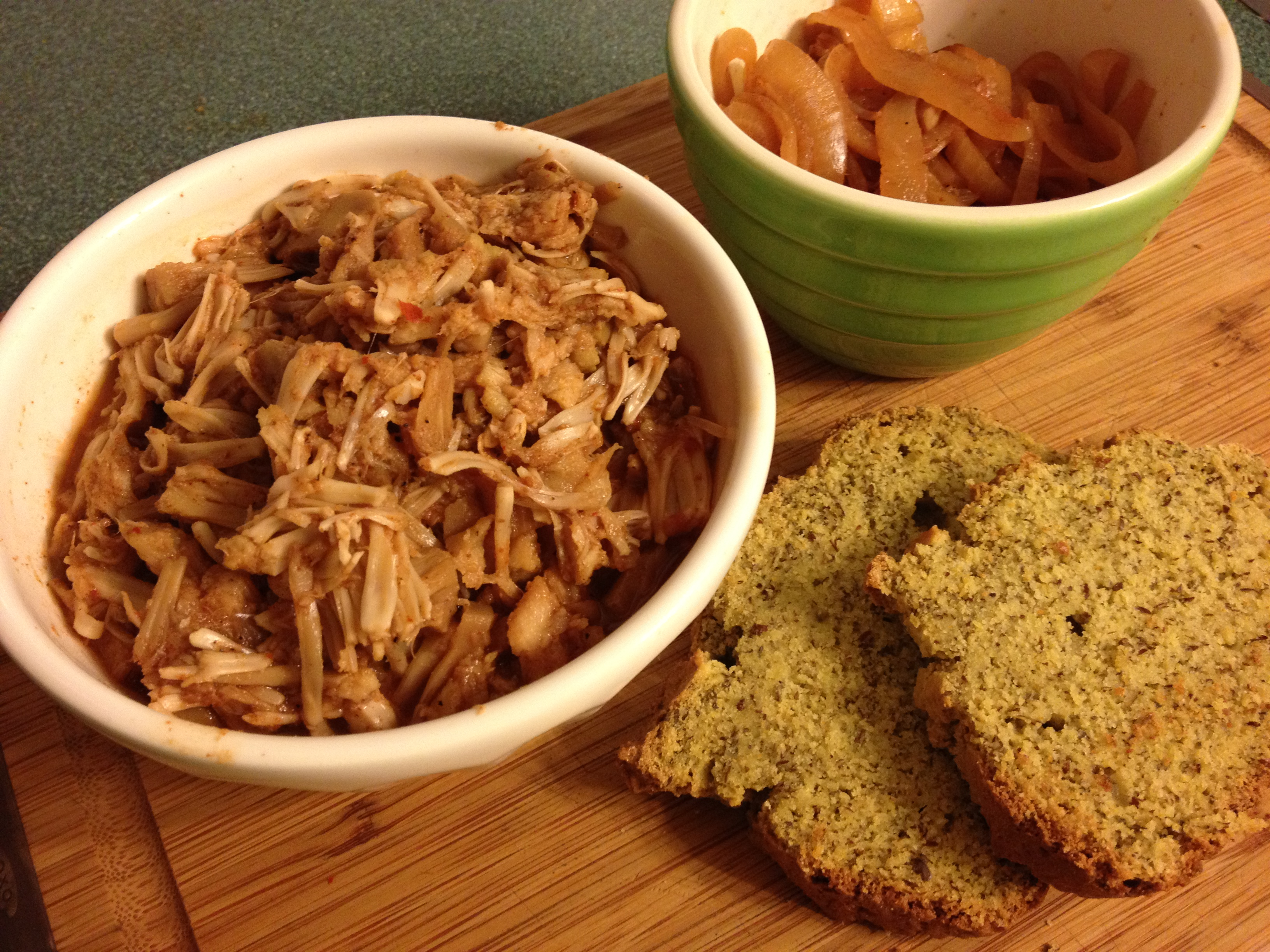 Slow Cooker Pulled Not-Pork Jackfruit, Carolina Style