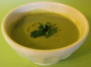 Creamy Cauliflower Kale Soup from In Johnna's Kitchen