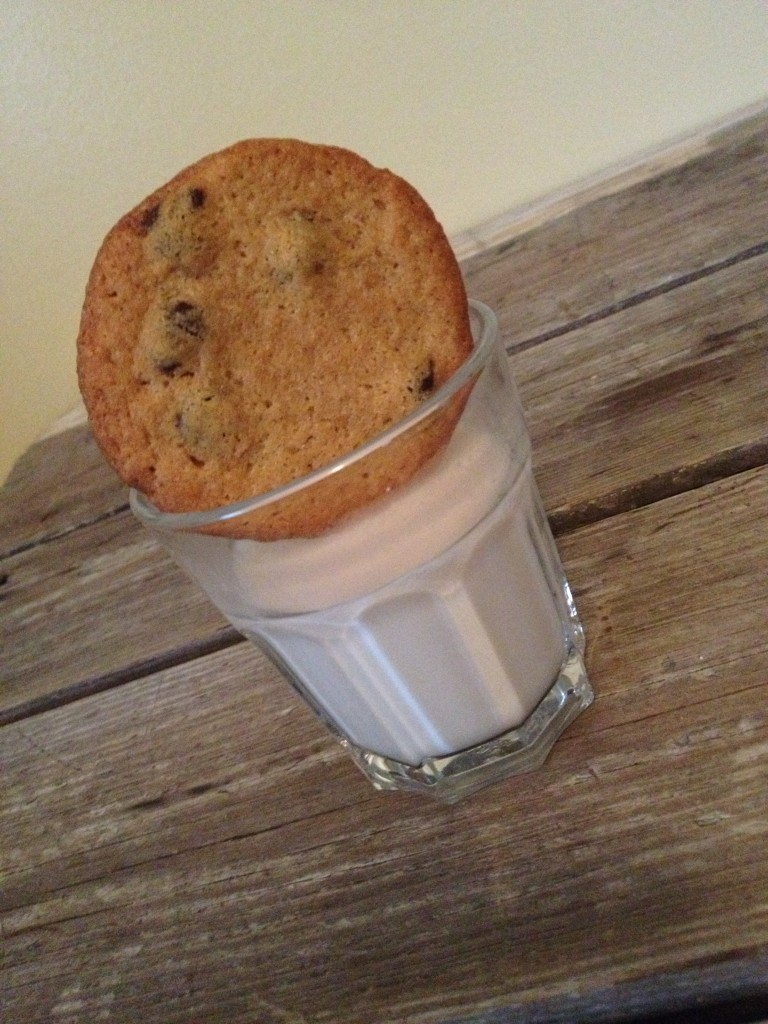 eat pastry gluten-free vegan chocolate chip cookie with almond milk