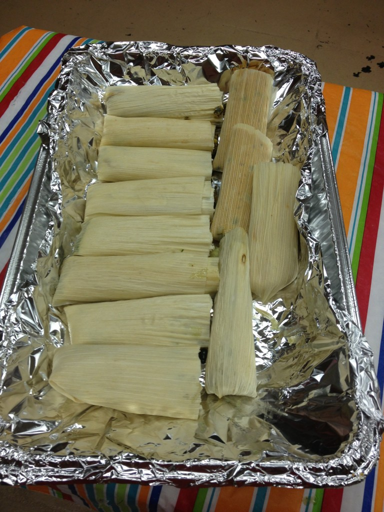 Pan of Vegan Tamales