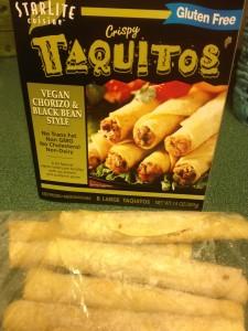 Starlite Taquitos, vegan chorizo, gluten-free