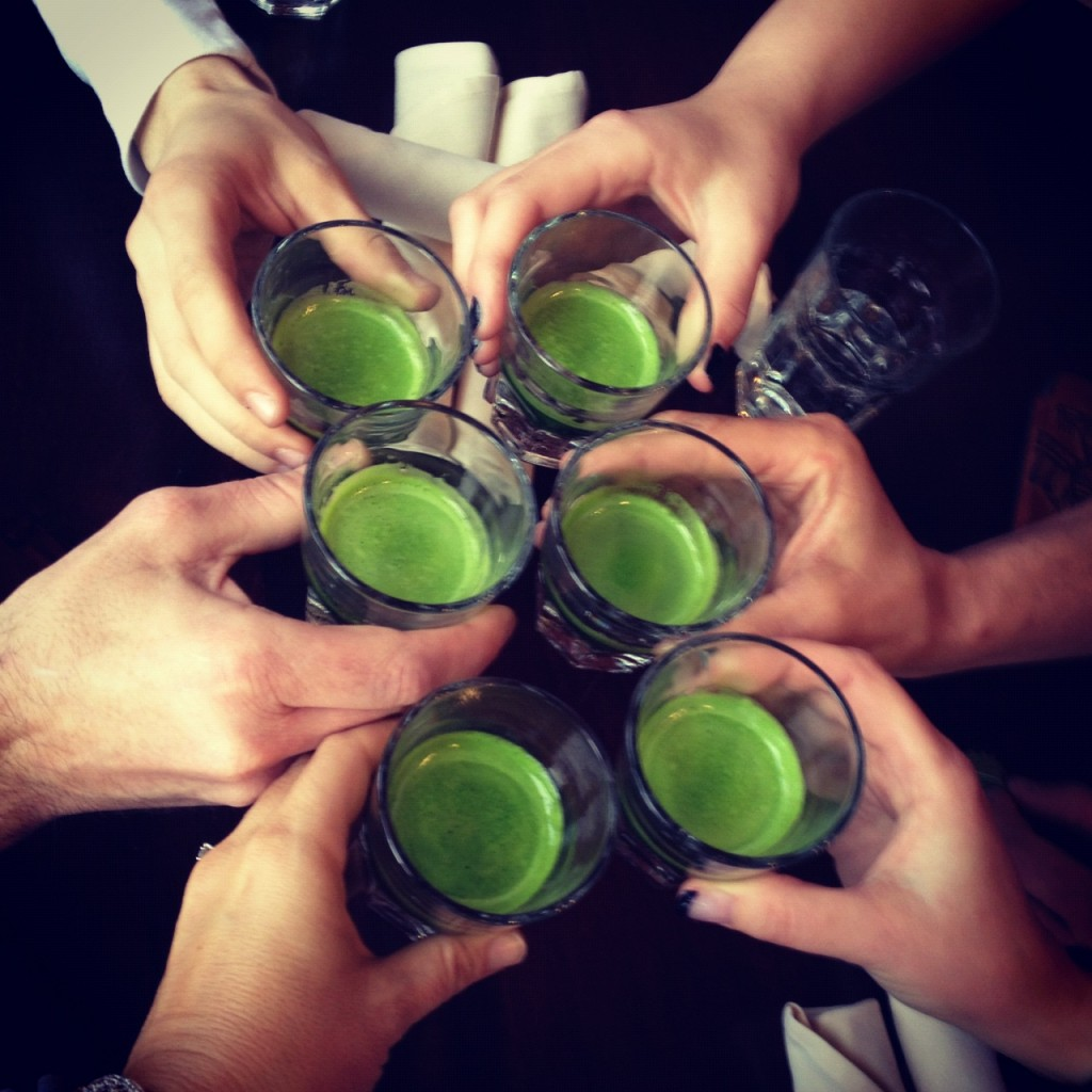 cafe gratitude kc wheatgrass shots