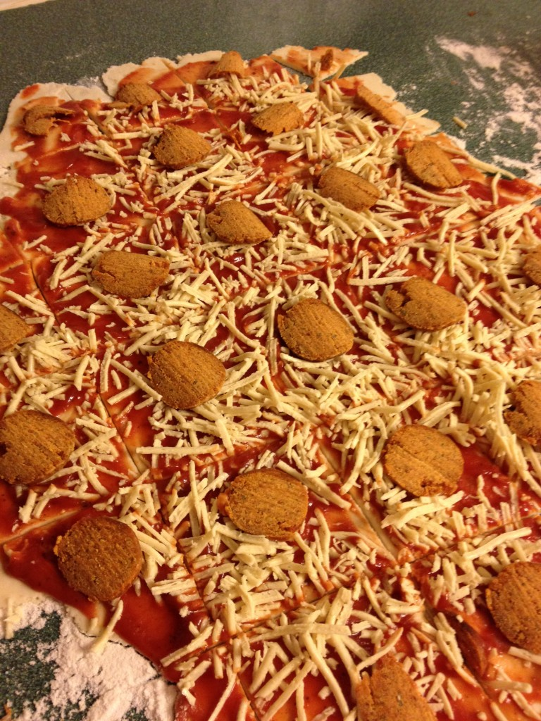 pullapart pizza with pepperoni