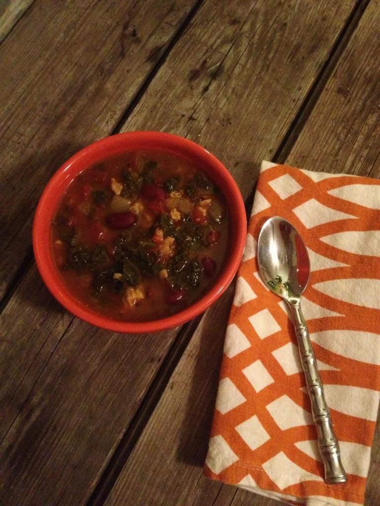 pumpkin kale chili in johnnas kitchen 2