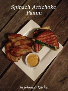 Gluten-Free, Dairy-Free Spinach Artichoke Panini for National Spinach Day