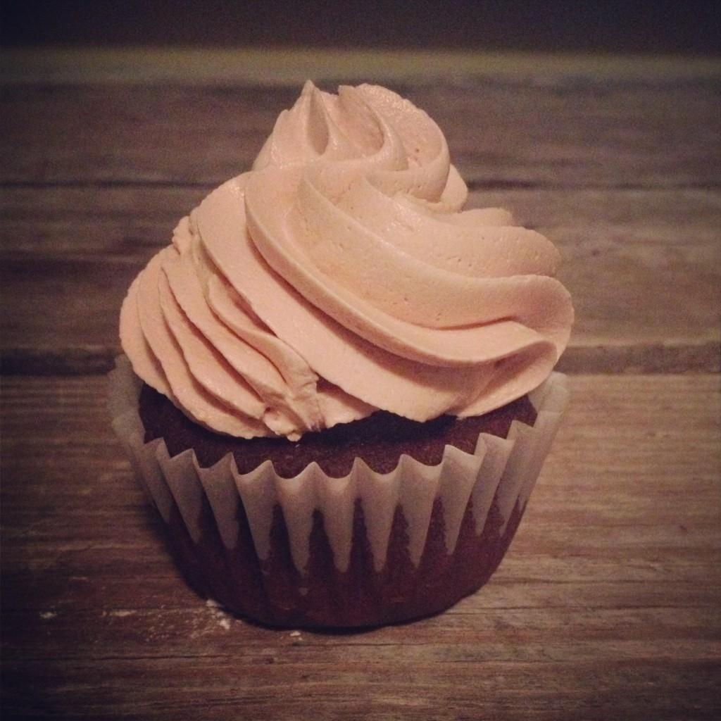 In Johnna's Kitchen Chocolate Cuppins, Caramel Frosting