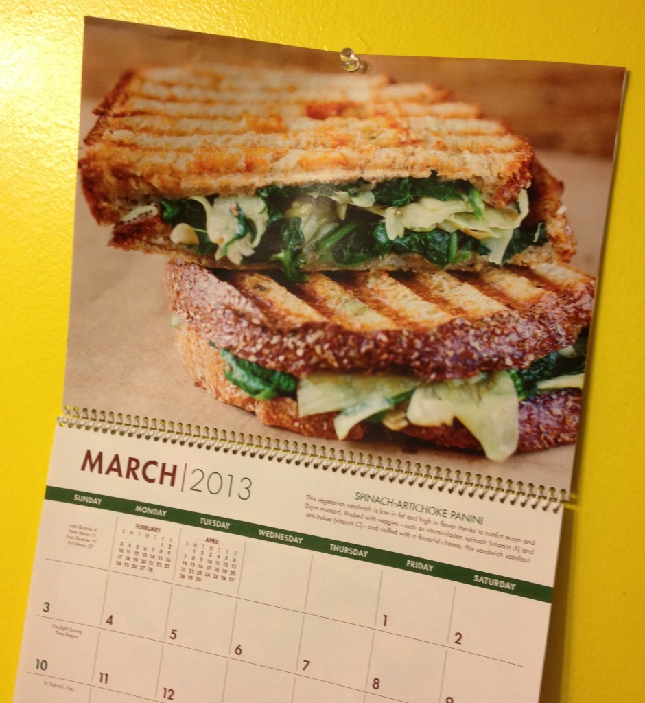 in johnnas kitchen spinach artichoke panini calendar