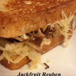 Jackfruit Reuben from In Johnna's Kitchen. Gluten-free, Dairy-Free, Vegan.