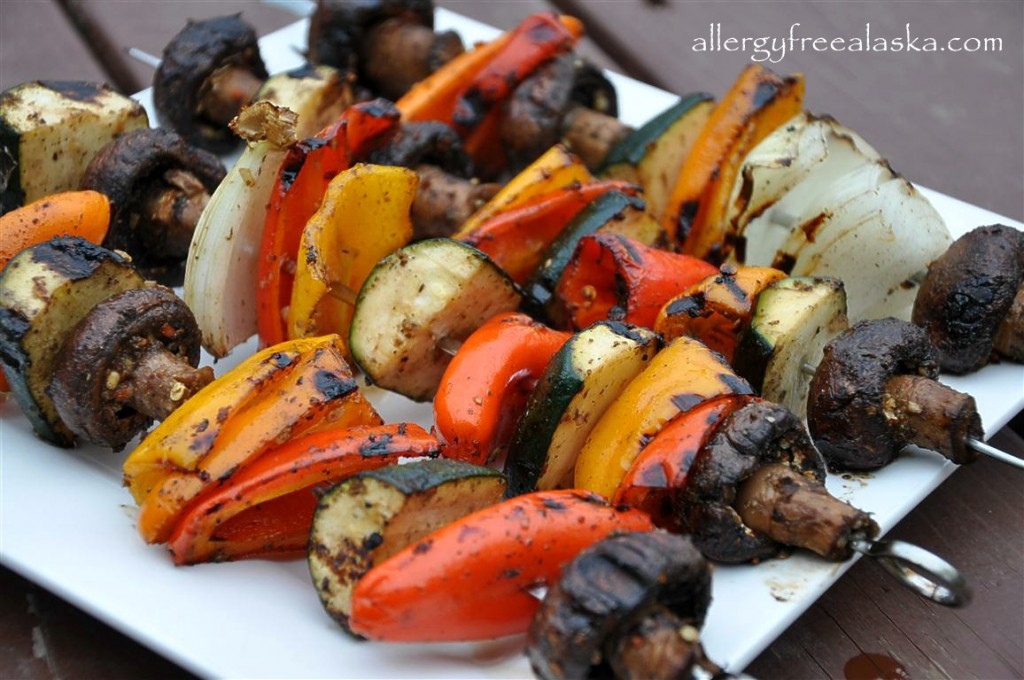 marinated veg kabobs