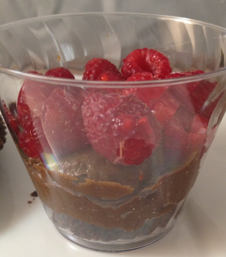 mini chocolate raspberry trifle layer 2 and 3