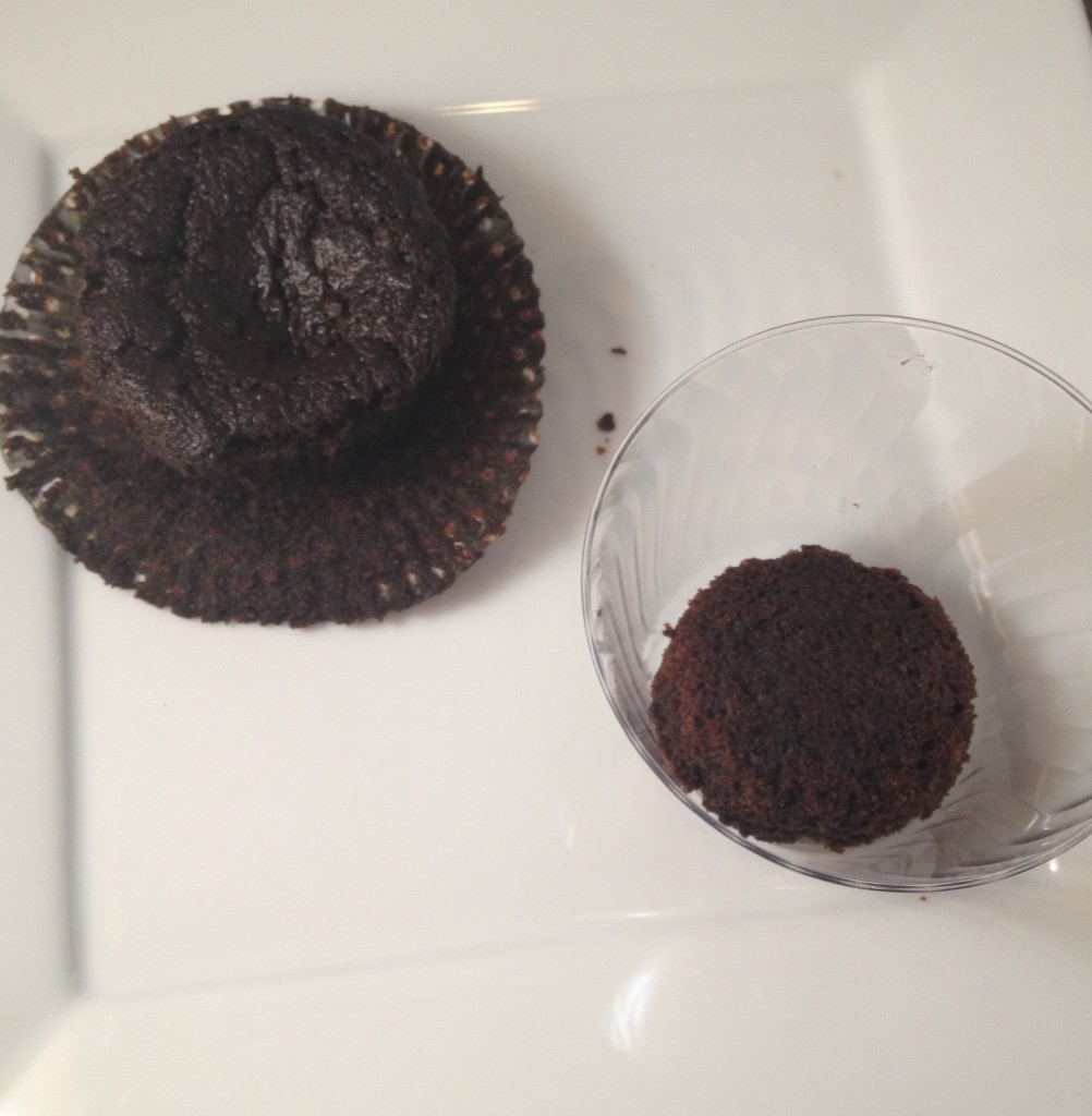 mini chocolate raspberry trifles layer 1
