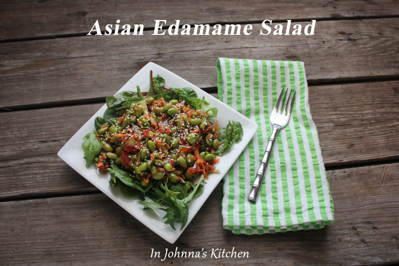 asian edamame salad with greens