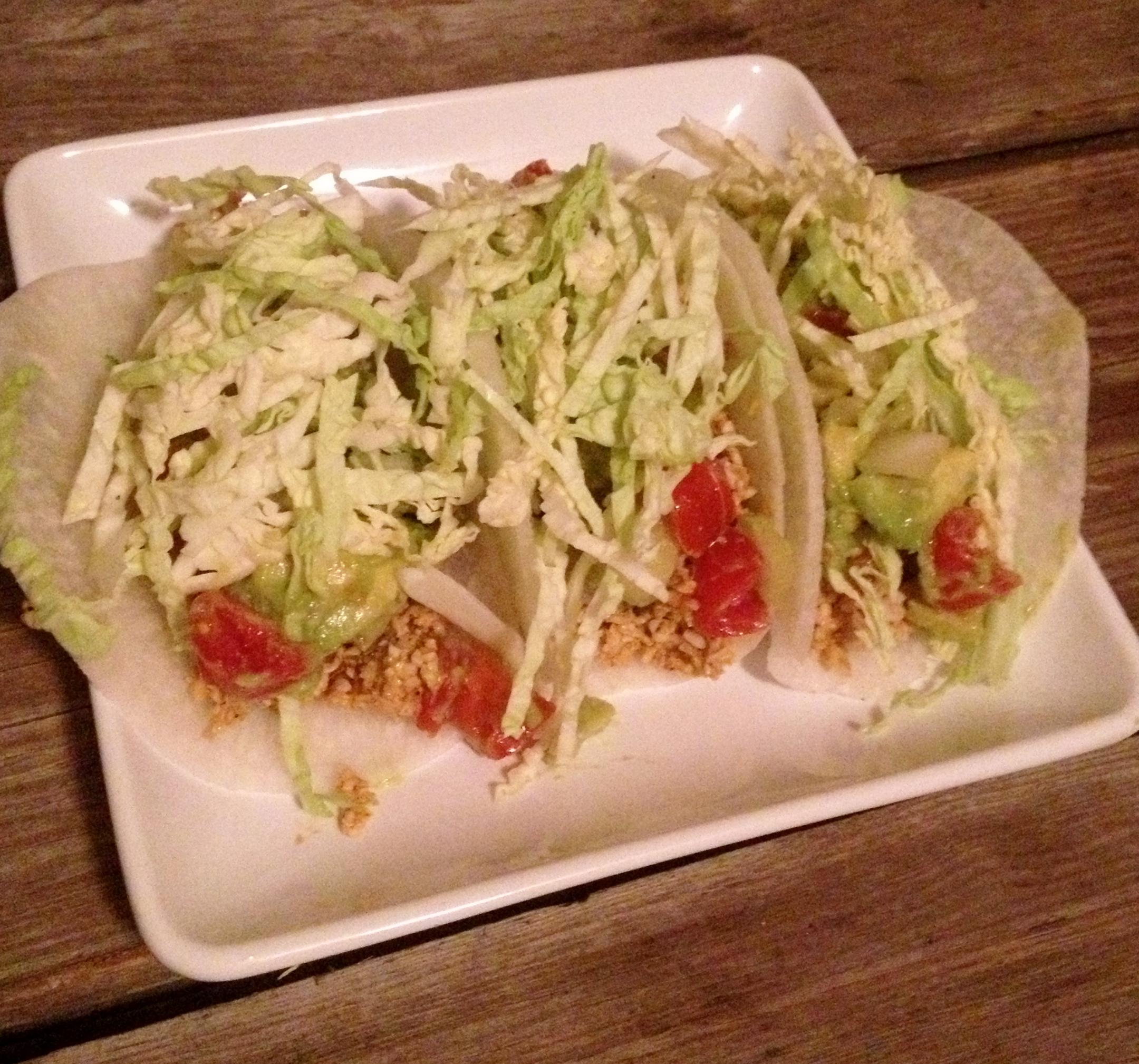 Sunny Tacos, gluten-free, raw vegan, nut-free taco filling