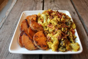 Bacon Tofu Breakfast Scramble