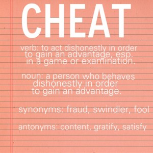 Soften Saturdays:  About Cheating