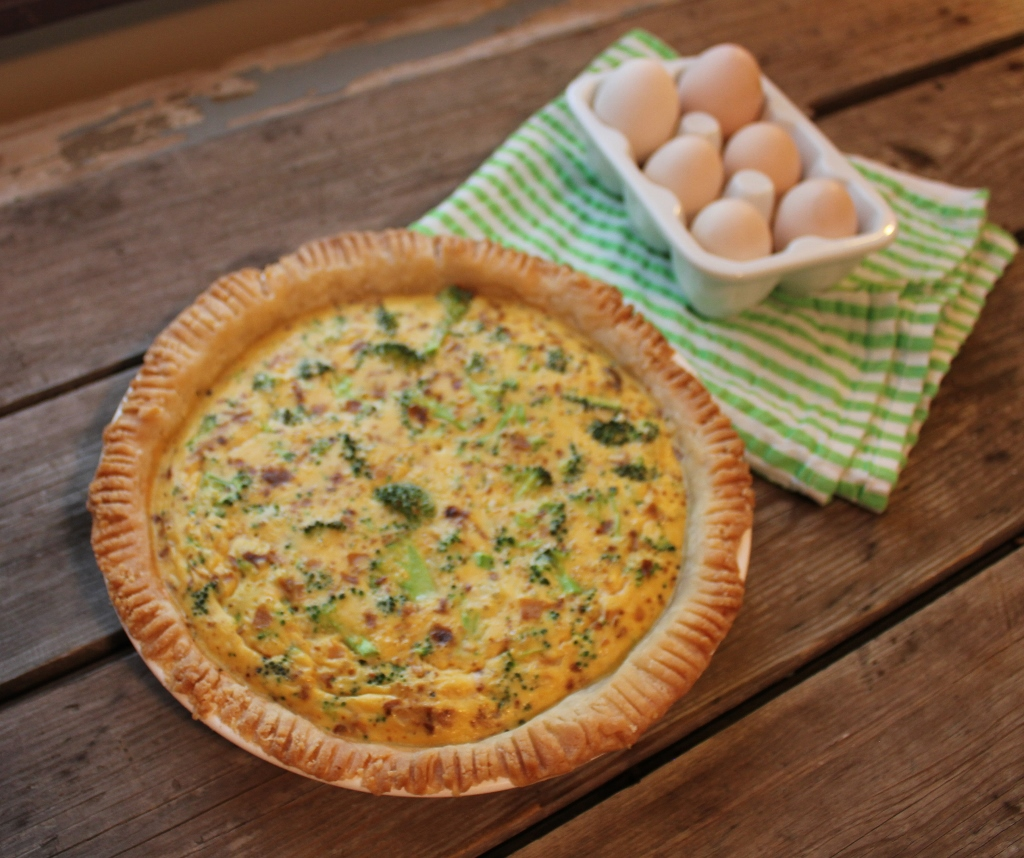 cheese broccoli bacon quiche | In Johnna's Kitchen