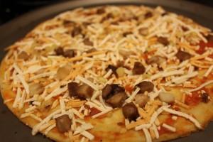 garlic mushroom before cooked