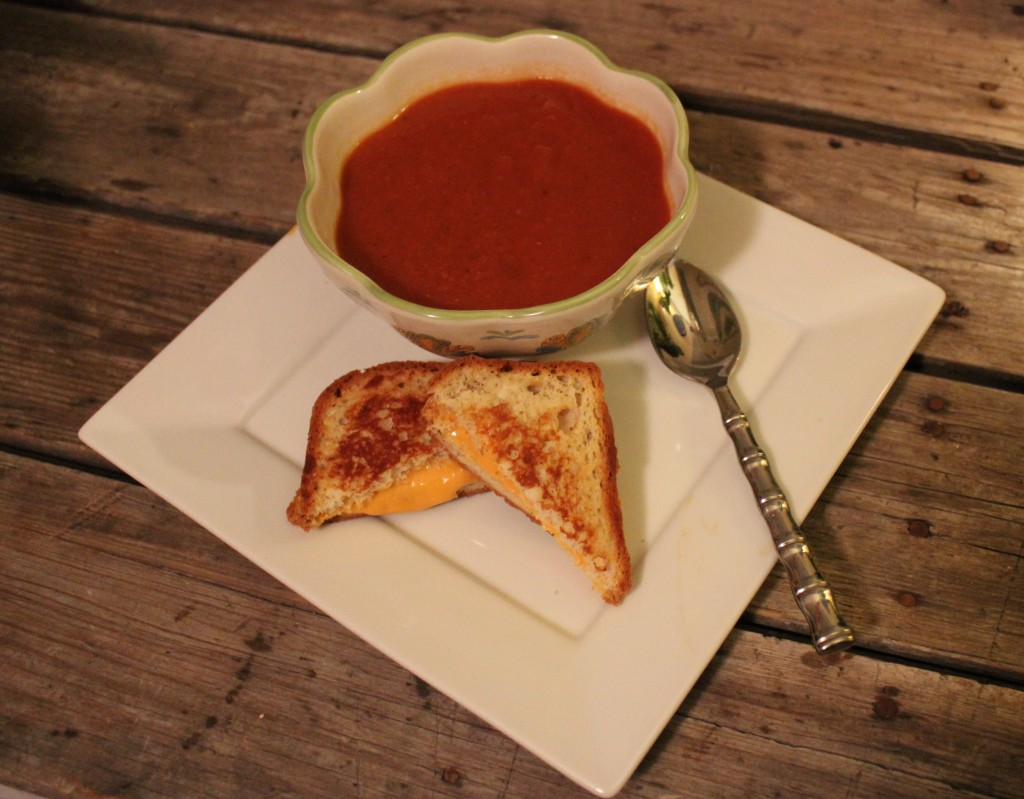 Hearty Tomato Basil Soup from In Johnna's Kitchen