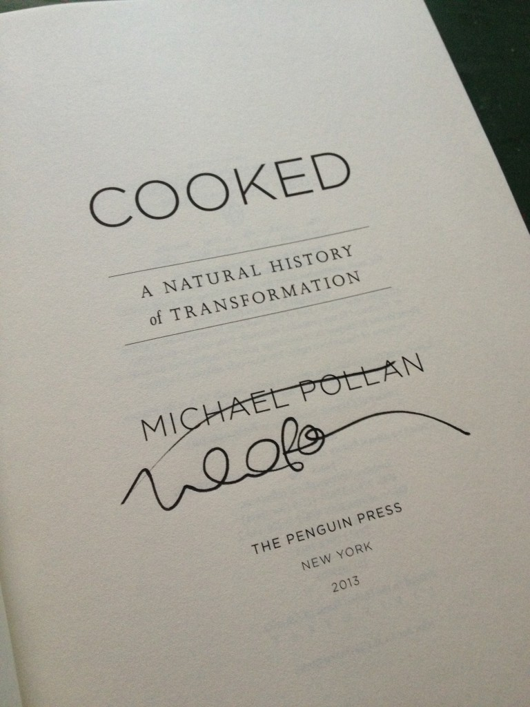 michael pollan cooked signed