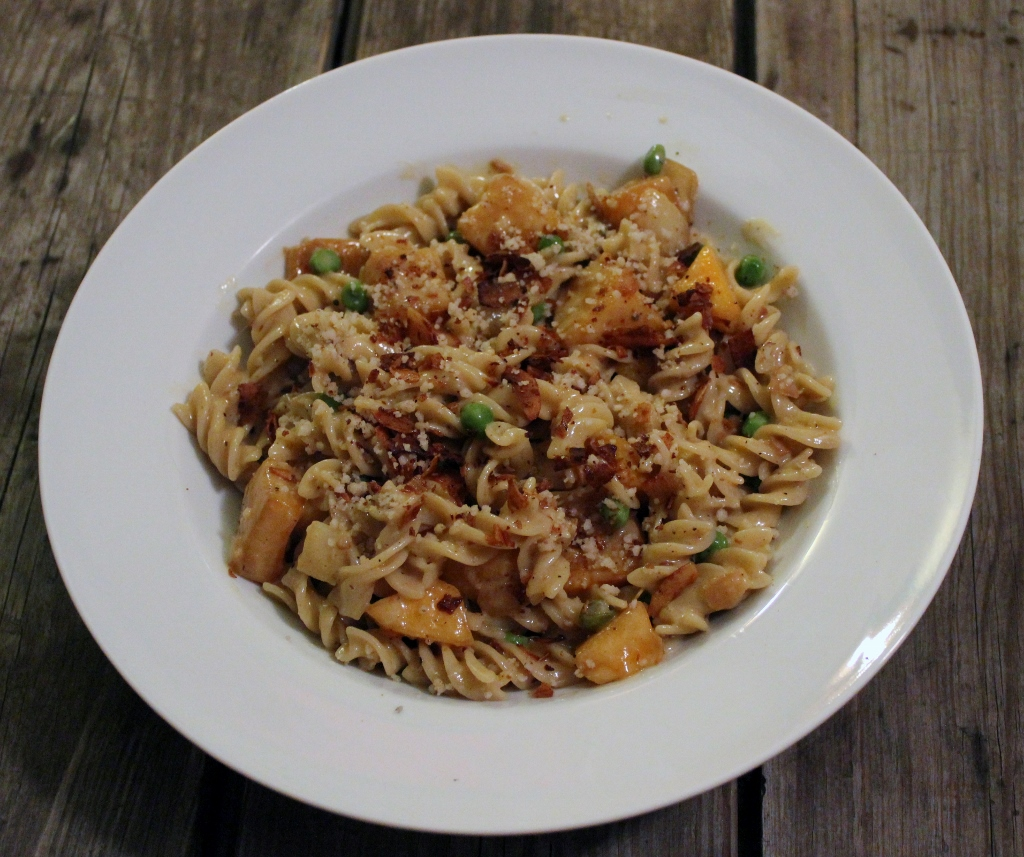 gluten-free, dairy-free, vegetarian pasta carbonara