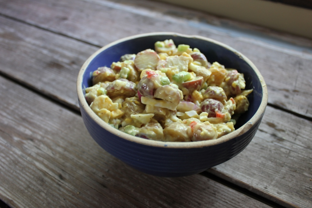 Super Simple Potato Salad, gluten-free, dairy-free and with a vegan option!