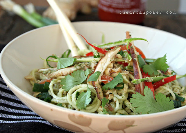 The Urban Poser spiralized noodles with Asian pesto sauce