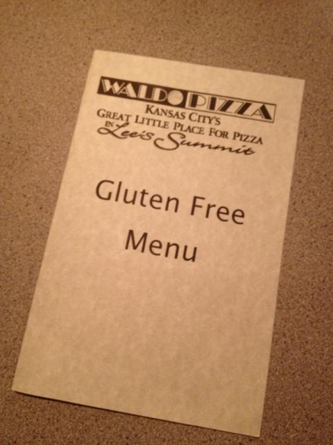gluten free menu waldo pizza
