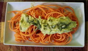 Pumpkin Alfredo with Sweet Potato Noodles