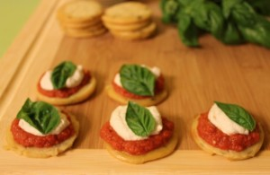 Twelve Months of Healthy Eating: Mini Tomato Basil Pizzas (gluten-free, dairy-free, grain-free, nut-free, vegan)