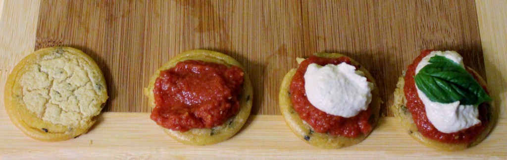 In Johnna's Kitchen Mini Socca Pizzas