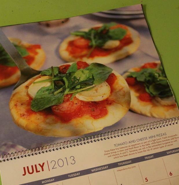 In Johnna's Kitchen pizza calendar