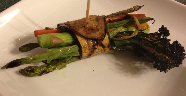 grilled zucchini veggie bundles in johnna's kitchen