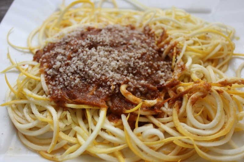 Crockpot Spaghetti Sauce with Zoodles In Johnna's Kitchen