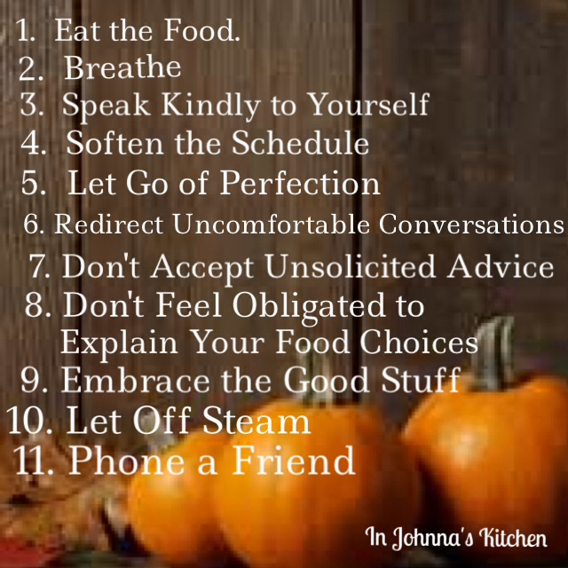 Tips for Softer Holidays from In Johnna's Kitchen