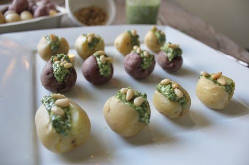 pesto stuffed mini potatoes in johnna's kitchen (500x333)