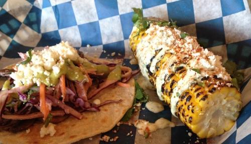 taco and corn from taco republic