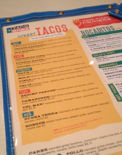 taco republic menu