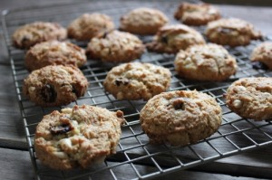 White Chocolate Cranberry Ginger Cookies (Gluten-free, Dairy-Free, Egg-Free)