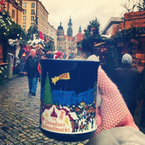 Mug of Gluhwein in Dresden Germany by Amber Shea