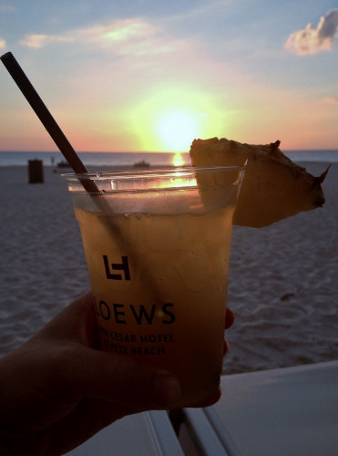 Sunset with a Cocktail from The Beachcomber | In Johnna's Kitchen