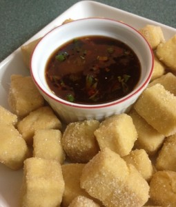 fried tofu and awesom-ish sauce In Johnna's Kitchen