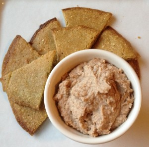 pita wedges with hummus In Johnna's Kitchen