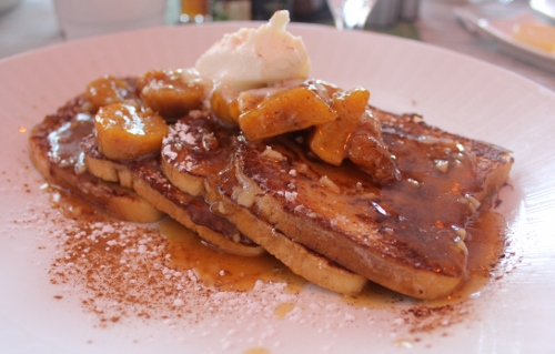 plantain foster french toast at Sea Porch | In Johnna's Kitchen